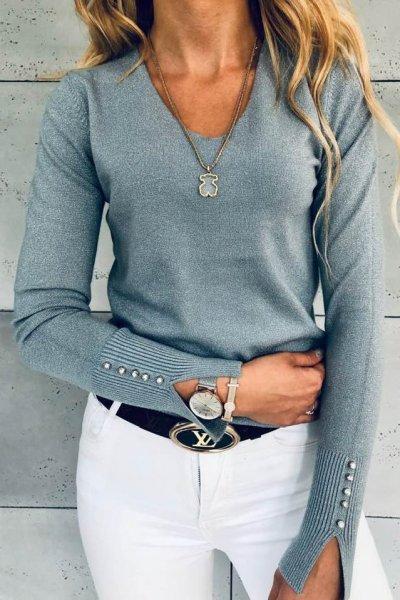 Sweterek Glitter Silver