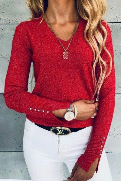 Sweterek Glitter Red