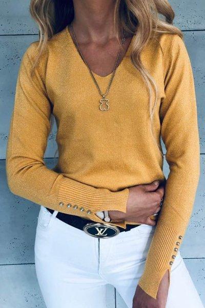 Sweterek Glitter Yellow