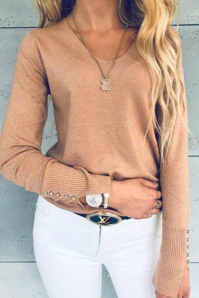 Sweterek Glitter Peach