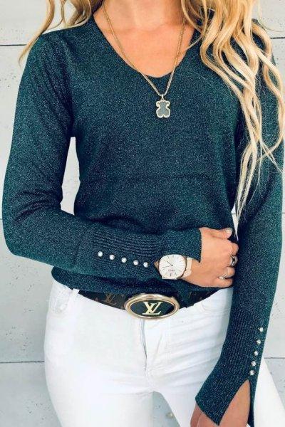 Sweterek Glitter Green