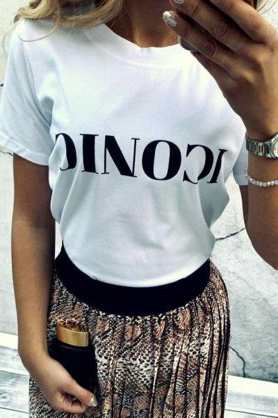 T-shirt Iconic White