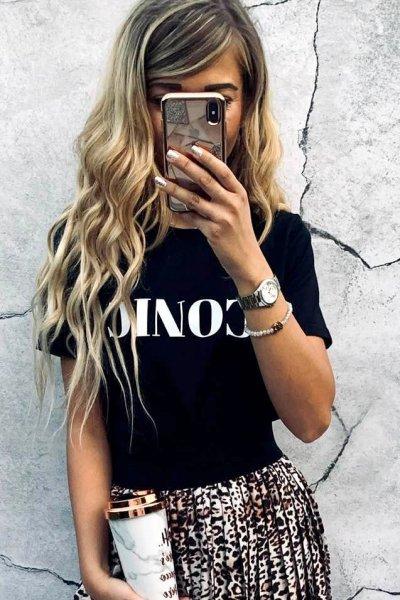 T-shirt Iconic Black