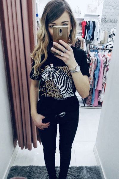 T-shirt Zebra Black